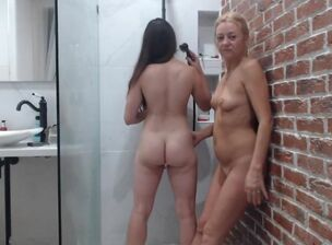 Hot teen in shower