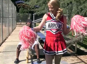 Cheerleader threesome